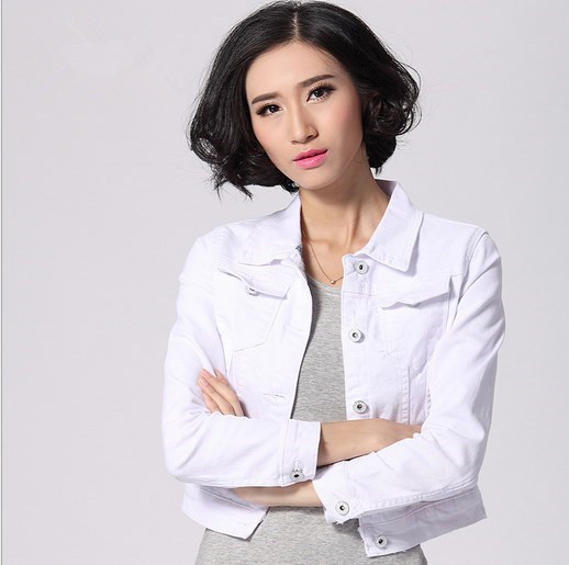 White Fitted Coat Promotion-Shop for Promotional White Fitted Coat ...