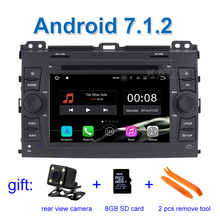 2 GB RAM 1024*600 Android 7.1 Car DVD Player Video for Toyota Prado Cruiser 120 2003 - 2009 with Wifi BT Radio GPS