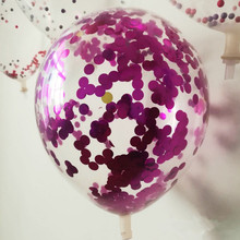 5PCS 12Inch Magic Sequins Transparent Latex Balloon High Quality Inflatable Air Balls Wedding Birthday Party Decoration Balloons