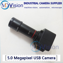 5MP USB Cmos Camera Electronic Digital Eyepiece Microscope Free Driver High Resolution Camera for Win10/ 7/XP / win8 /Mac OS