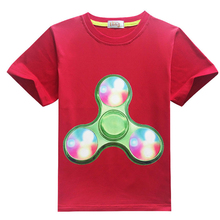 Fingertip Gyro Boy T Shirts Cartoon Kids Tops Tees Fashion Leisure Cheap Clothes 2017 Summer Toddler Children Teenagers Costume