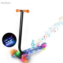 Buy Ancheer new Kick Scooter Child Kids 3-Wheel Kick Scooter LED Light Wheels Music kids skateboard PU wheels for $47.24 in AliExpress store