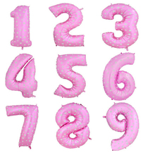 2016 Number 16/30/40 Inch Pink Aluminum Balloon New Year Happy Birthday Wedding Party Decoration