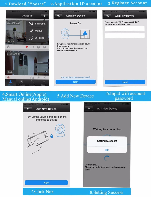 Wistino 720P Wireless IP Camera Motion Detection Home Baby Monitor IR Night Vision WiFi Camera Alarm Onvif Surveillance Security (23)