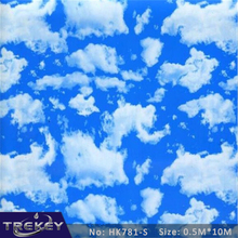 0.5M*10M Blue Sky And CloudsTransfer Printing Film HK761-S, Hydrographic film, Hydro Dipping Film Film For Aqua Print