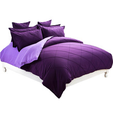 Luxury wedding bedding sets duvet cover set bedspread queen king size Purple comforter 100% Cotton Bed linen