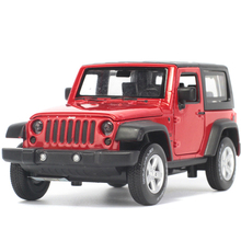 CaiPo 1:36 SUV Wrangler Toy Vehicles Model Alloy Pull Back Children Toys Genuine License Collection Gift Off-Road Car Gift(China)