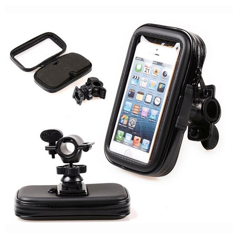 Fimilef Motorcycle Bike Ride Phone Waterproof Bag Case Adjustable Holder Handlebar Mount Dustproof Bag Navigation Phone Stand (15)