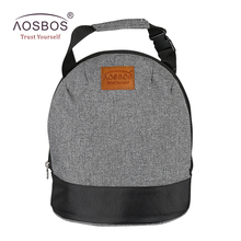Aosbos Oxford Insulated Lunch Bags for Women Kids Portable Grey Thermal Lunch Bag Box Men Food Picnic Bento Cooler Bag Tote(China)