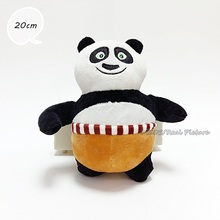 Free Shipping 20cm Kung Fu Panda Plush Stuffed Toys Baby Dolls Cartoon Anime Children Birthday Gift