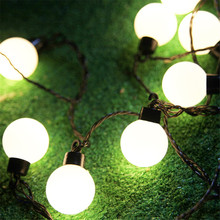 Novelty 2.5M 10pcs 5CM Big Size Ball LED String Christmas Light 220V Fairy Garland Wedding Garden Outdoor Lighting