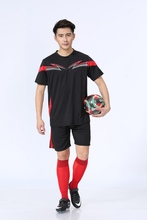 6 colors new style kids soccer uniforms adult men's short sleeve soccer jersey soccer suit can customized print name and number(China)