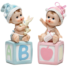 Home Furnishing Practical Birthday Gift Items Creative Cute Resin Doll Small Ornaments Home Decoration(China)