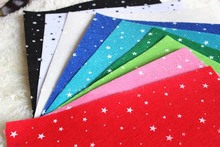 New Arrival! Drop Shipping  8 Colors 30x30cm Christmas Bling Bling Star Printed Felt Nonwoven Felt Fabric