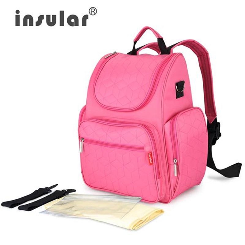 Insular 2017 Baby diaper bag backpack waterproof stroller bag for wheelchair pram Fashion mother maternity nappy changing bag<br>