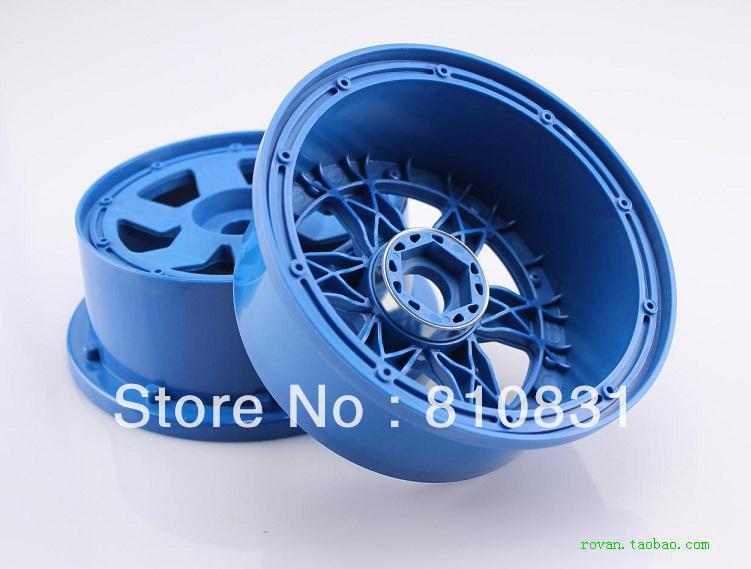 Freeshipping  six-spoke nylon wheels of front wheels for baja 5B blue black<br><br>Aliexpress