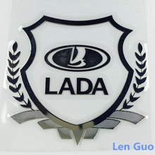 DG-11 Excellent New car Gold metal Badge case For  lada niva kalina priora granta largus vaz samara 2110 2110 car emblem