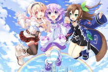 Hyperdimension Neptunia Compa Neptune IF anime girls KD060 Living room home wall modern art decor wood frame fabric poster