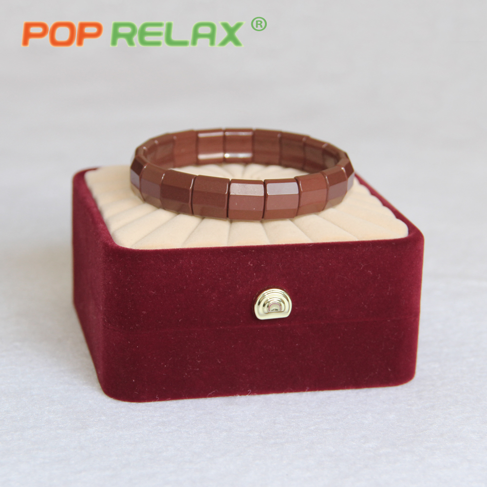 POP RELAX Health care stone bracelet Korea tourmaline germanium ceramic men bracelet for women negative anion physiotherapy ball<br>