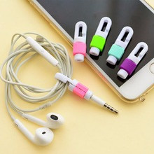 2pcs/set USB Cable Winder Charger Wire Protector Colorful Line Cover For iphone huawei  Samsung Headphone Cord