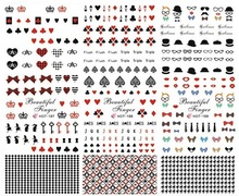 newest designs 254-256 nail art sticker nail decal Incorporated nail art supplier nail accessories-(China)