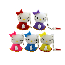 hot sell 5 colors Hello Kitty USB Flash Drive cat pen drive special gift fashion cartoon Animal 4GB/8GB/16GB Wholesale(China)