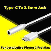 Letv Le 2 Pro Audio Adapter Type-C to 3.5mm Jack AUX Earphone Microphone Headset Plug Covertor Cable For Letv LeEco 3 Pro X720