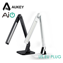 Aukey Dimmable Eye-care LED Desk Table Lamp USB Charging Port Reading Ligh Adjustable 4 Modes 5-Level Dimmer