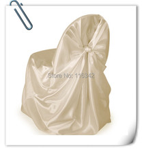 Made in China  New  Product  Ivory  Banquet/Wedding Chair Covers & 100pcs Satin Chair Cover FREE SHIPPING Marious