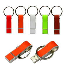 Key Ring Business Leather USB 2.0 Flash Memory Stick Card Pen Drive 8GB-32GB Real Capacity USB Key 64GB 128GB 1GB Gift