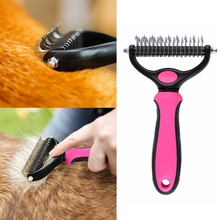 Dog Pet Cat Fur Knot Cutter Shedding Grooming Trimmer Dematting Tool Comb Brush Pet knot rake hairdressing supplies 2017