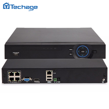 Techage 15V/48V 4CH 1080P POE NVR 4 Port P2P Network Video Recorder ONVIF Full HD 2MP/1MP for Security CCTV System IP Camera
