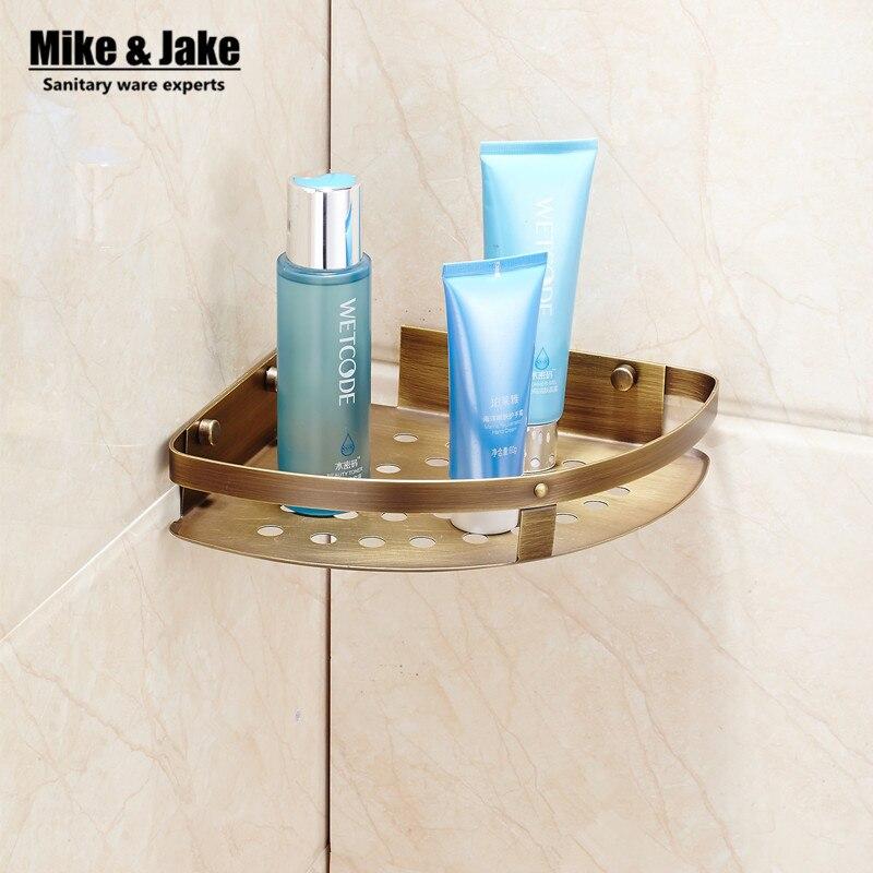 Bathroom antique brass corner shelf bathroom shower room shelf  holder bathroom corner shelf basket for bathroom holder<br><br>Aliexpress
