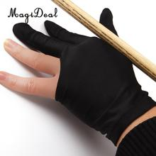 MagiDeal 3 Finger Left hand Snooker Pool Billiard Cue Glove Black(China)