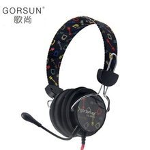 GORSUN GS-M882 Fashion Headphone Stereo With Microphone Game video headset Wire control Personalized appearance for PC MP3 Phone(China)