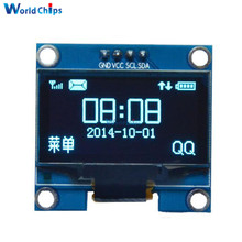 "1.3 inch 1.3"" IIC I2C Serial 128x64 OLED LCD Display Blue Screen Module SSH1106 Driver IC For Arduino 3.3-5V(China)"