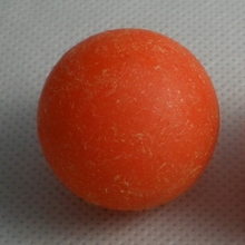 "NEW 1pcs 36mm 1.42"" roughened surface orange Foosball table soccer table ball SOLID PLASTIC football balls baby foot fussball 09(China)"