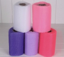 5pcs Wedding Car Table Runner Decoration Yarn Ribbons Mesh Hard Tulle Rolls Sheer Gauze For decorative Wedding Party