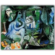 Pablo Picasso Abstract Paintings Image For Home Decoration Silk Canvas Fabric Print Poster Wallpaper CX197