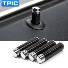 Car Styling For e46 e39 e60 e90 e36 f30 f10 e53 e34 e30 e70 X3 X4 X5 X6 M3 M5 Carbon Fiber Door Lock Stick Pin Cap Car Interior
