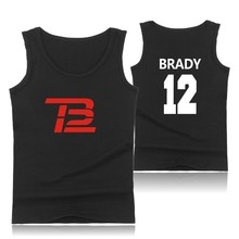 Hot Sale Tom Brady Logo Cotton Tank Top Summer Vest And Plus Size TB Drive Sleeveless Tank Tops Men Clothes XXS To 4XL Garment