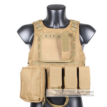 Military Tactical Vest Assault Airsoft SAPI Plate carrier Multicam Army Molle Mag Ammo Chest Rig Paintball Body Armor Harness(China)
