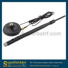 Superbat 2.4Ghz 7dBi RP-SMA Male Wifi Antenna Aerial 2M Cable 50Ohm Magnetic Base for Wireless LAN CARD AP Customizable