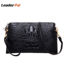 100% Genuine Leather Messenger Bags Women Crocodile Pattern Handbag Party Evening Envelope Clutch Bag Fashion Ladies Hand Bags