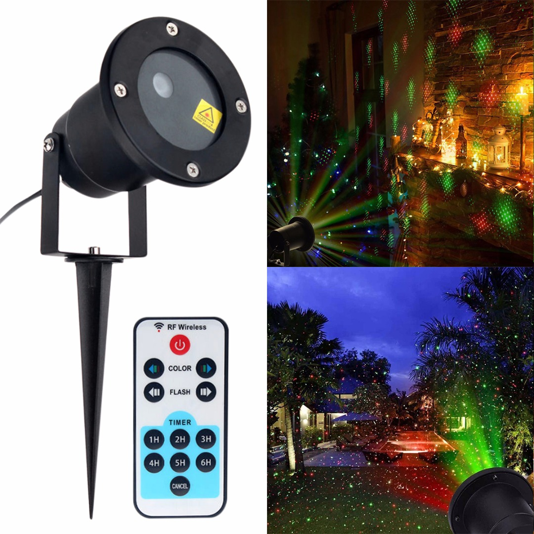 IKVVT Waterproof Outdoor Moving Projector Laser LED Garden Christmas Light Stage Light<br>