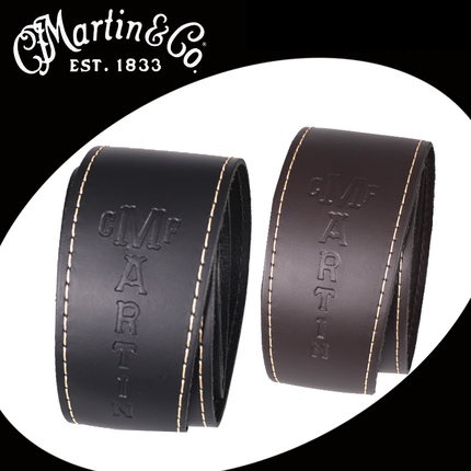 Martin Slim Leather Strap, Black/Brown<br>