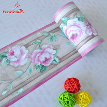 10M Self Adhsive PVC Wallpaper border Home Decor Waterproof Kitchen Wall Skirting Bathroom Wall Waistline Wall Sticker borders