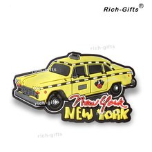 Free Customized OEM/ODM Promotion Gifts With Your Logo Fridge Magnets Souvenir United States New York Car 1000PCS/Lot (RC-US)