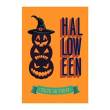 Decorative Outdoor And Indoor Flags Happy Halloween Trick or Treat Designed With Double Sided Printing Banners