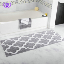 7Colors 45*120CM Extra Long GeometriMicrofiber Bathroom Tub Shower Accent Rugs Bath Mat Area Rugs Anti-skid Flocking Mat